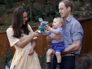 Kate, the Duchess of Cambridge,  Prince William, Prince George