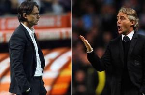 Milan Inter 2014 serie A sfida Mancini Inzaghi derby