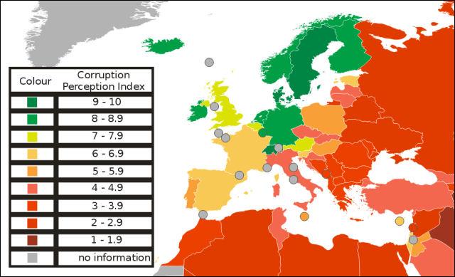 Italia fanalino di coda in Europa per quanto riguarda la corruzione nelle PA secondo Trasparency