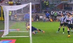 Il gol fantasma di Rami, non convalidato durante MIlan Udinese