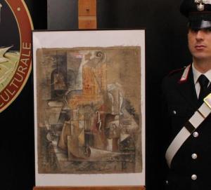Il Picasso da 15 milioni di euro ritrovato dai Carabinieri Tutela Patrimonio Culturale