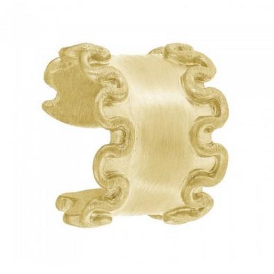 Originale anello fettuccina con bordi arricciati, prezzo 19,90 €