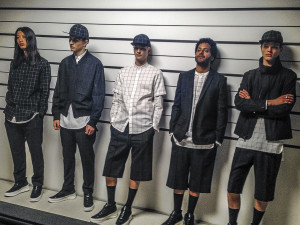 Buzzed-about designers Public School showed their collection in the form of a mock police lineup.