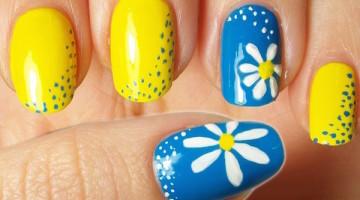 nail art margherite