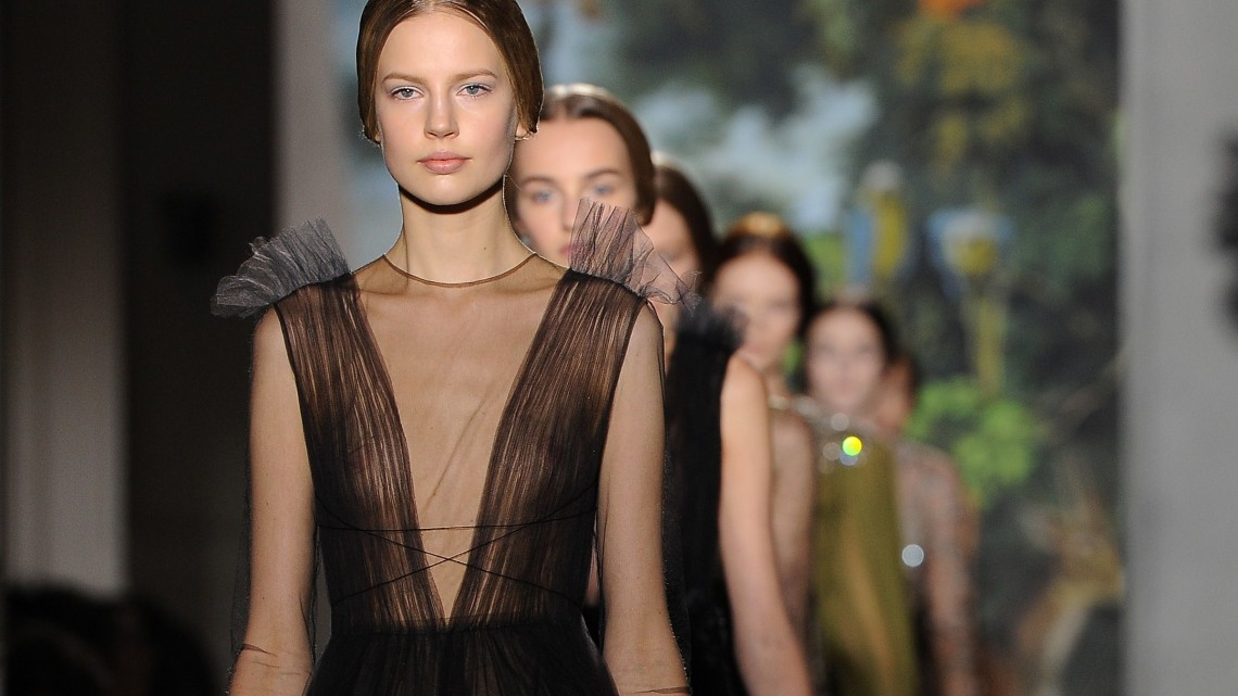 PARIS, FRANCE - JANUARY 22: Models walk  the runway during the Valentino show as part of Paris Fashion Week Haute Couture Spring/Summer 2014 on January 22, 2014 in Paris, France.  (Photo by Pascal Le Segretain/Getty Images)